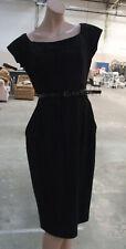 Spanish Designer Adolfo Dominguez Beautiful Black Sleeveless Midlength Dress 38