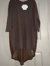 (1) One Women's Mordenmiss Shirt Dress ~ Brown Size L NWT