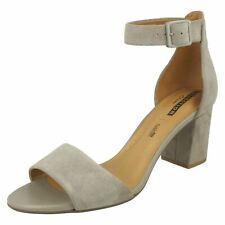 b6051d62a092a Clarks Buckle Block Heel Sandals   Beach Shoes for Women