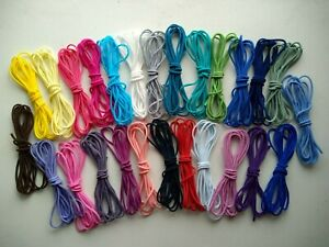 26 Colour 3mm Round elastic cord Soft Stretch band Sewing Crafts face mask DIY