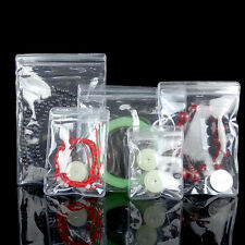 Clear Blue Pvc Jewelry Anti Oxidation Self Seal Bags Plastic Jade Pearl Pouches