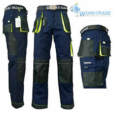 Arbeitshose Bundhose Arbeitskleidung Schutzkleidung Blau Schwarz Gelb Gr. 46-62