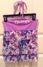 Justice Brand Rock Cami W Ruffles Bling Sequins & Tie Around Neck Girls Size 14
