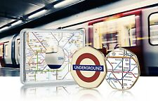 More details for london underground official 24ct gold commemorative in case. subway/tube. colour