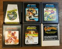 LOT OF 6 VINTAGE ATARI 2600 GAME CARTRIDGES -BREAKOUT, FROGGER, CARNIVAL COLECO