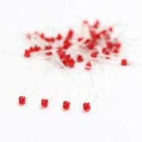 LED15DR 50pcs Diffused Red Miniatronics 1.5mm Led & Free Resistors NEW