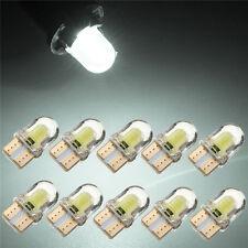 10 x T10 194 168 W5W COB 8 SMD LED CANBUS Sílice Blanco Brillante Matrícula