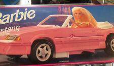 Vintage Barbie 1993 Ford Mustang Toy Convertible Car Pink Mattel #65032