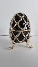 Design Toscano Fh8772 Table Dresser Jewelry Box Enameled Egg Golden Trellis Eben