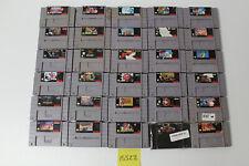 30 Super Nintendo SNES Games Yoshi's Island, Punch Out, Mario Kart, Castlevania
