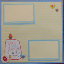 12X12 YOU ARE SO TWEET  PREMADE SCRAPBOOK PAGE LAYOUT MSND TONYA