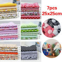 7PCS 25*25 cm Cotton Fabric Printed Cloth Sewing Quilting Fabrics Patchwork DIY