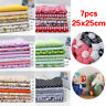 7Pcs Quilting Patchwork Floral Fabric Cotton Handwork DIY Clothes Sewing Crafts