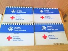 4 VINTAGE 1966 RED CROSS AT&T BELL SYS FIRST AID & PERSONAL SAFETY COURSE  BOOKS