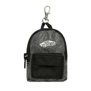 Vans Off The Wall Backpack Keychain - Black/Silver
