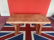 Handmade Chunky Rustic Wooden Coffee Table, Finished in a Spanish Mahogany Wax