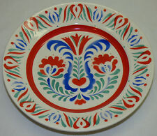 Antique Gaudy Dutch Art Deco Granit Hungary Red Floral Deep Plate Wallhanging