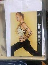 ANNA KOURNIKOVA Original Boldly  Signed Promo 4x6 W proof directly from Anna InC
