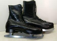 Vintage Canadian Flyer union Steel Mens Size 11 Leather Ice Skates L@K