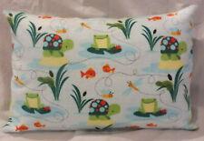 Homemade Envelope StyleToddler Pillowcase 12 x 16 Nursery Frogs and Turtles