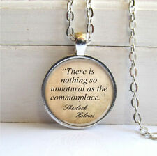 Sherlock Holmes Quote Necklace,Word Jewelry,Literary Pendant,Book Quote Necklace