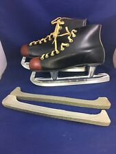 Vintage Red Toe Ice Hockey Skates Made in Canada Size 9