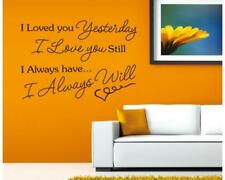 Wandtattoo Wandsticker Wandaufkleber I Will Always Love You Spruch 80 x 115 W127