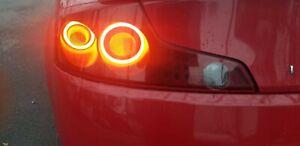 Custom INFINITI G35 COUPE PAIR TAIL LIGHTS 2003-2005 Halo rings gtr style