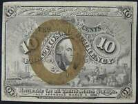10c Fractional Note Second Issue FR-1246 XF EF Extremely Fine