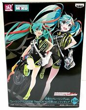 BANPRESTO HATSUNE MIKU SQ FIGURE RACING MIKU 2016 TEAM UKYO CHEERING VER.