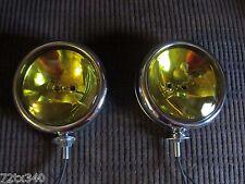 Vintage BRITISH Fog Lights Lamps 6v sealed beam Yellow MG VW BUG TRIUMPH miget
