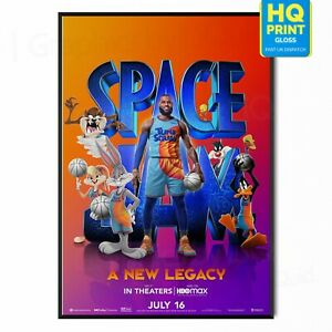 Space Jam: A New Legacy Movie 2021 LeBron James Poster | A5 A4 A3 A2 A1 |