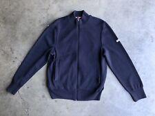 Saint James Cotton Lined Wool Zip Cardigan Sweater sz Small Blue