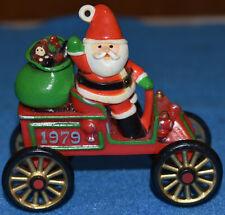 Vtg 1979 Hallmark Cards Inc Ornament Santa's Motorcar car HERE COMES SANTA #1
