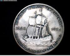 1924 Huguenot-Walloon Tercentary Silver Commemorative Half Dollar #A265