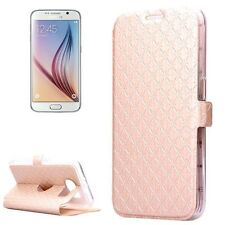 High Quality Flipcase horizontal für  Galaxy S6 Gold strukturiert