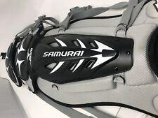 "New Other Mizuno Samurai Shin Guard 380198 15.5"" Adult Baseball Catchers Blk/Gry"