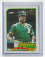 1989 A's Don Baylor signed card Topps #673 AUTO Autographed Oakland Athletics