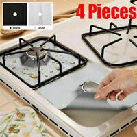 4X Reusable Stove Clean Mat Kitchen Foil Gas Oil Protector Liner Burner Cover AU