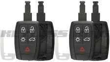 2x Keyless Entry Remote Car Key Fob Shell Case Cover for Volvo C30 C70 S40 V50