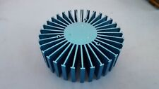 "Heatsink, Round, For Power Led, 6"" x 1.5"", Blue Color"