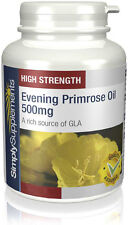 Evening Primrose Oil 500mg 360 Capsules | Cold Pressed GLA | Hormonal Balance