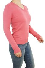 Women Pullover V-Neck Fitted Casual Jumper Sweater Soft Knitted Top