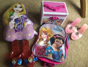 Disney Princess Bundle (shoes, Cushion, Jewellery Box, Rucksack)