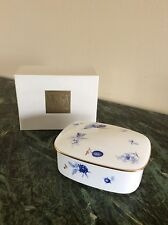 "Mikasa Bone China Vintage Covered Oblong Box ""Fruit Bouquet"""