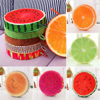 Home Office Sofa Bed Round Fruit Pillow Plush Cushion Chair Garden Seat Pads
