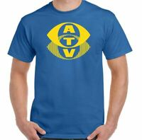 ATV T-Shirt Associated Television Mens Retro TV Station UK British Broadcaster