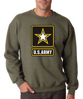 ARMY LOGO MILITARY GREEN CREW NECK United States Sweatshirt Usarmy Ranger US USA