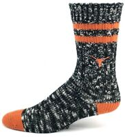 Texas Longhorns NCAA Black and White Alpine Crew Socks