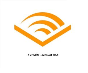 audible.com USA 5 credits account (all in one account) - ultra FAST delivery!!